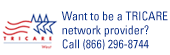Want to be a TRICARE network provider? Call (866) 296-8744